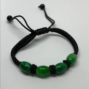 Natural jade bead bracelet